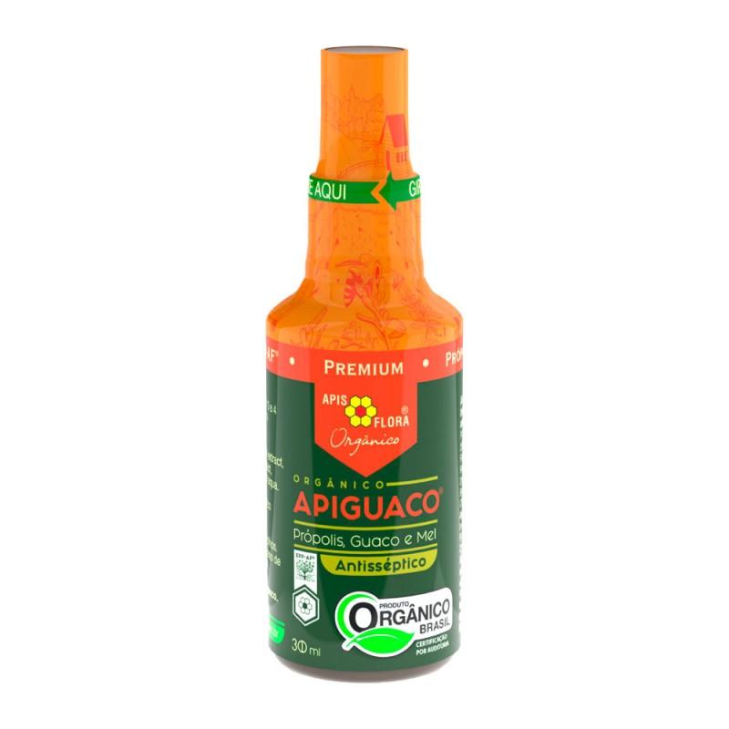 Spray apiguaco orgânico própolis mel e guaco 30ml - Apis flora