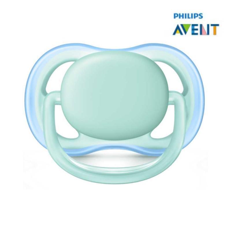 Avent Chupeta ultra air 0-6 meses lisa azul 1 unidade