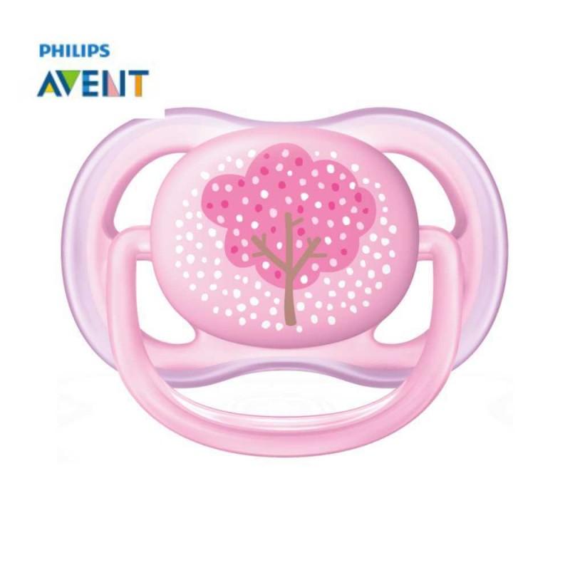 Avent Chupeta ultra air 0-6 meses rosa árvore 1 unidade