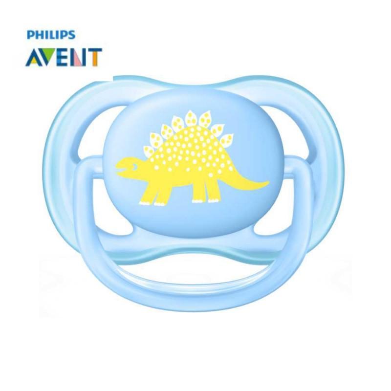 Avent Chupeta ultra air 0-6 meses azul dinossauro 1 unidade