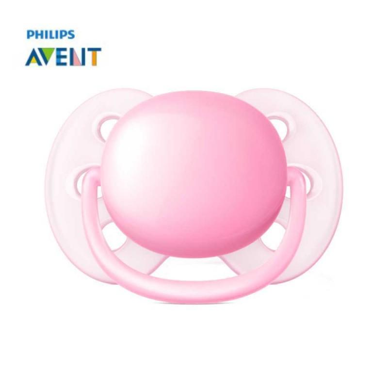 Avent Chupeta ultra soft 0-6 meses, lisa rosa 1 unidade