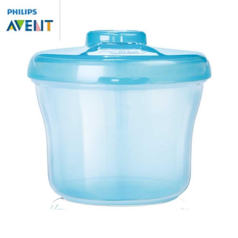 Avent Dosador de leite em pó 3 compartimentos azul