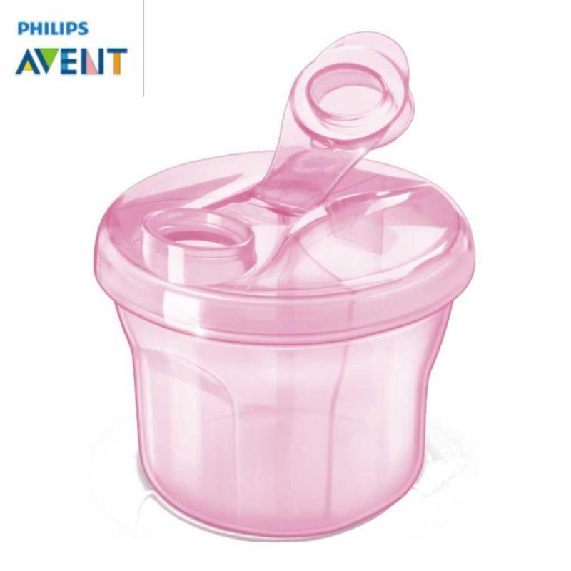 Avent Dosador de leite em pó 3 compartimentos rosa