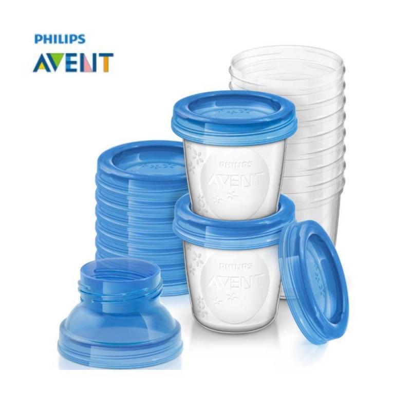 Avent Copos de armazenamento de leite materno 180ml com 10 unidades