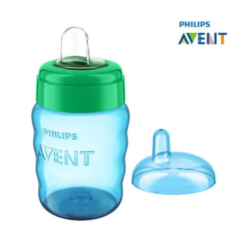Avent Copo easy sip 9 meses+ bico de silicone 260ml azul
