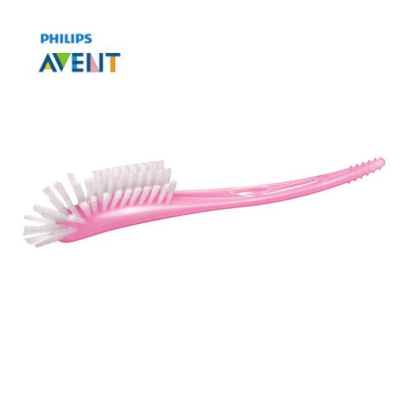 Avent Escova para mamadeiras e bicos rosa
