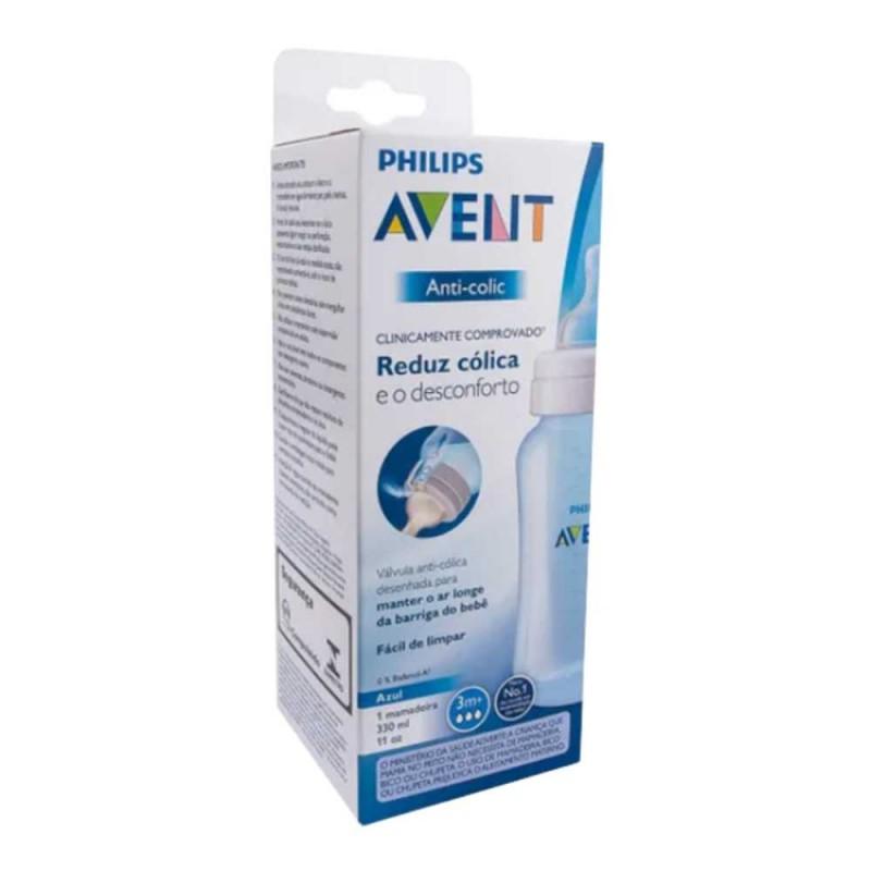 Avent Mamadeira anti colic 3 meses+ 330ml azul