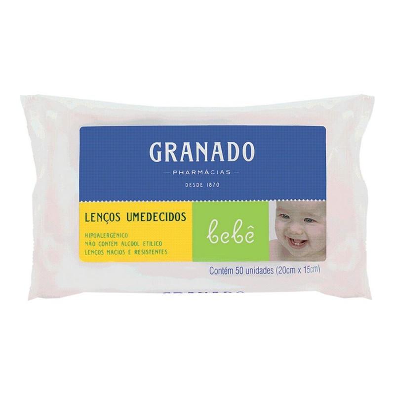 Lenço unidecido bebê tradicional pacote com 50 unidades