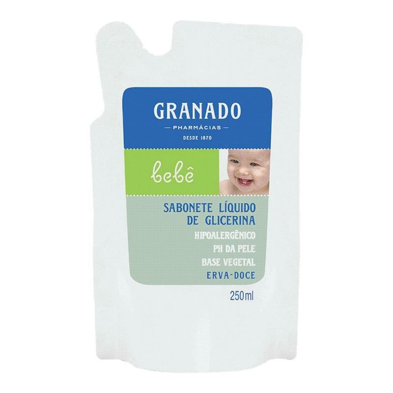 Refil sabonete líquido glicerina bebê erva doce 250ml