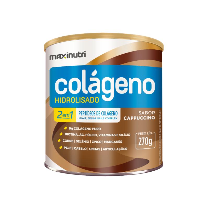 Colágeno Hirdolisado Cappuccino 270g Maxinutri
