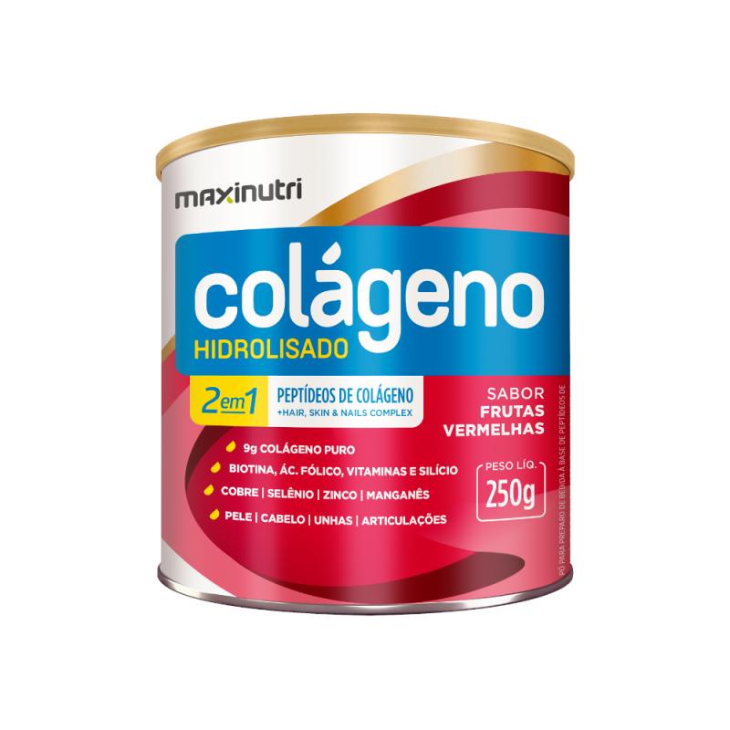 Colágeno Hidrolisado Frutas Vermelhas 250g Maxinutri