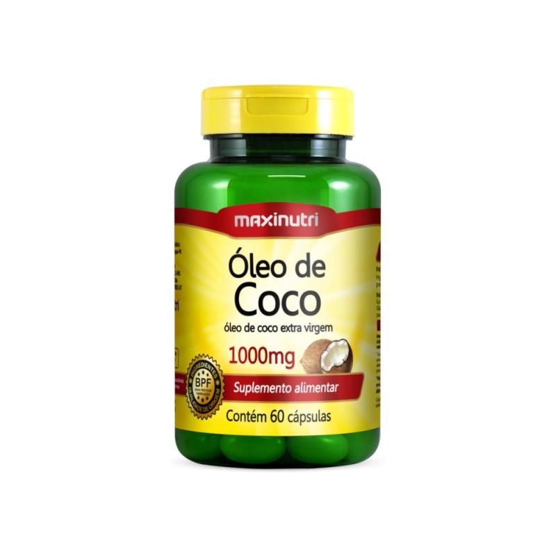 Óleo de Coco 60 Cáps. Maxinutri