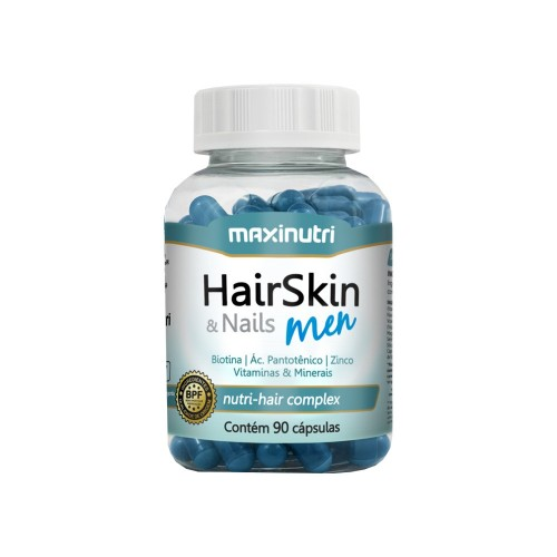 Hair Skin & Nails Men 90 Cáps Maxinutri