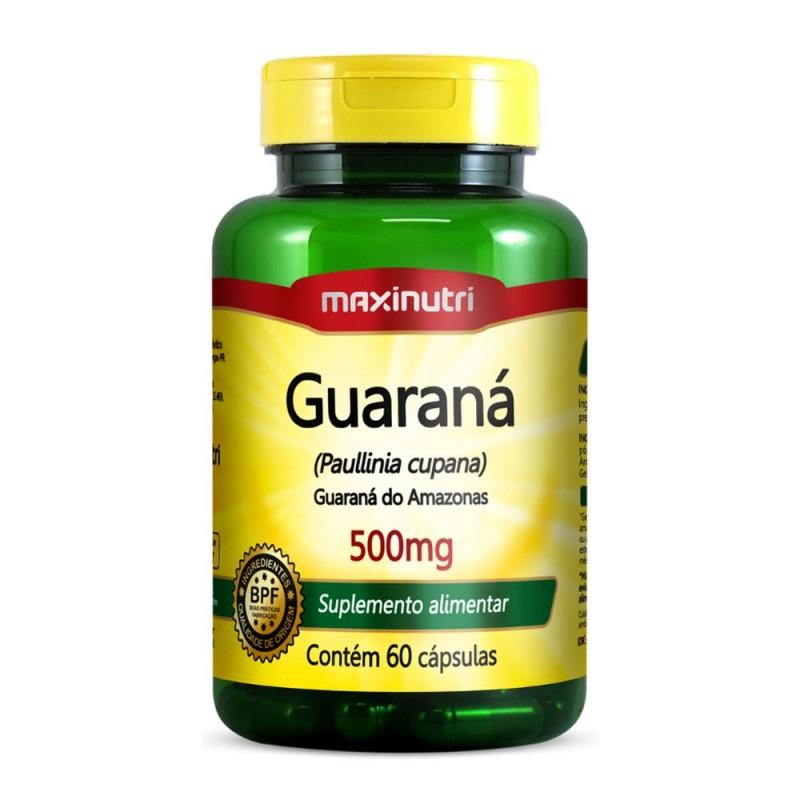 Guaraná 500 mg 60 cápsulas