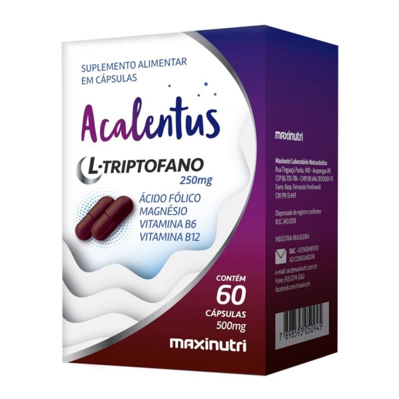 Acalentus l-triptofano 125mg + assoc 60 cápsulas