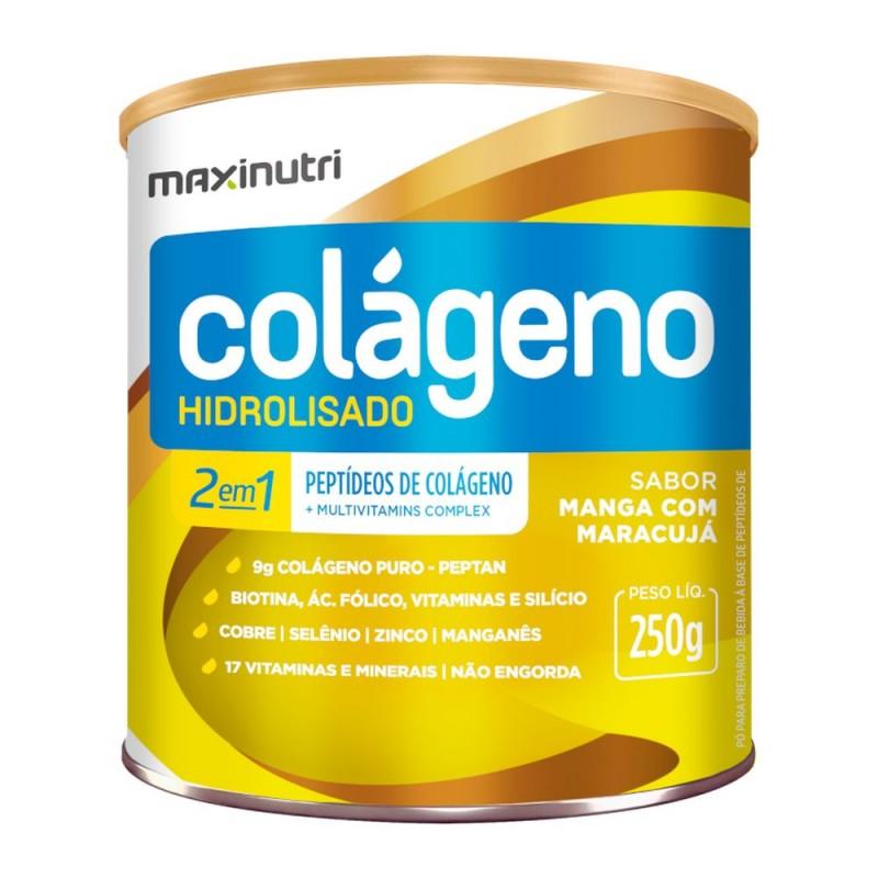 Colágeno 2 em 1 hidrolisado manga com maracujá 250gr