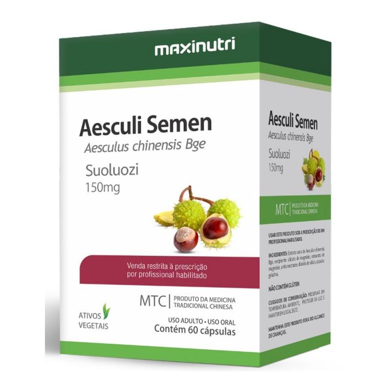 Aesculi Semen(Castanha da índia) 60 Cápsulas medicina tradicional chinesa.
