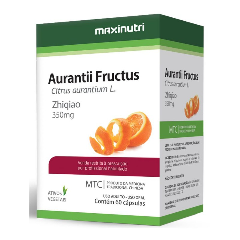 Aurantii fructus (citrus) 60 cápsulas medicina trdicional chinesa.