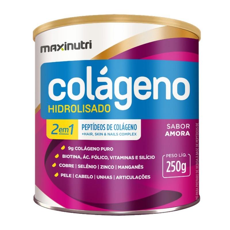Colágeno 2 em 1 hidrolisado amora 250gr