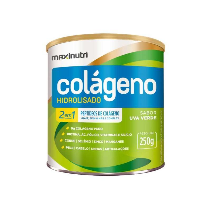 Colágeno Hidrolisado Uva Verde 250g Maxinutri
