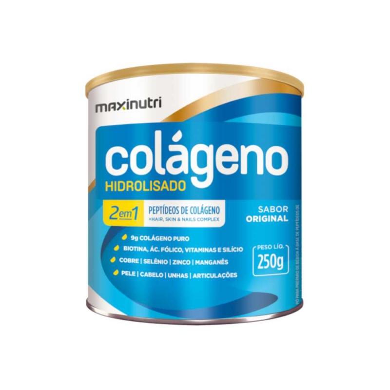 Colágeno Hidrolisado Sem Sabor 250g Maxinutri