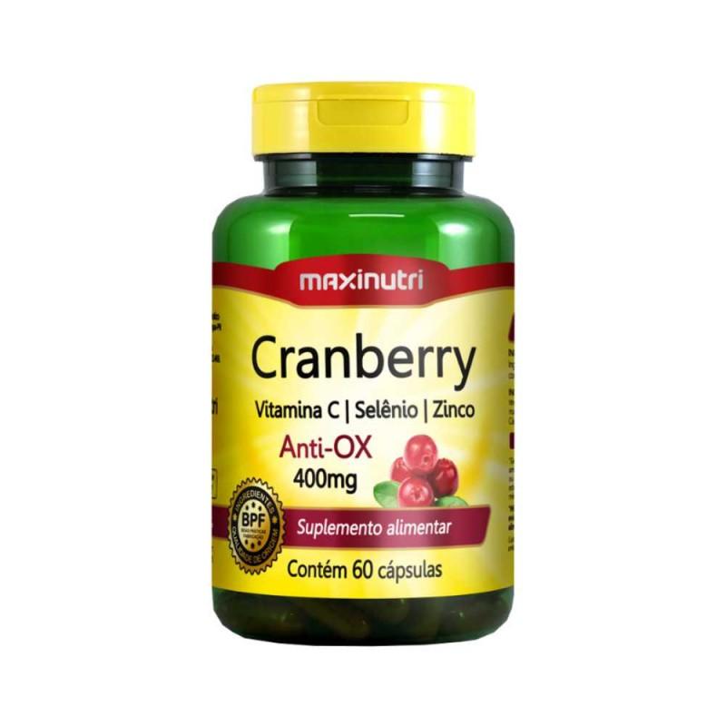 Cranberry Suplemento vitamina C e zinco 60 cápsulas