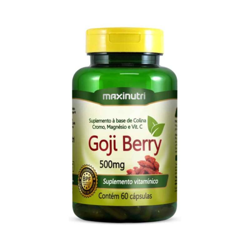 Goji Berry 500mg Vitamina C 60 Cáps. Maxinutri