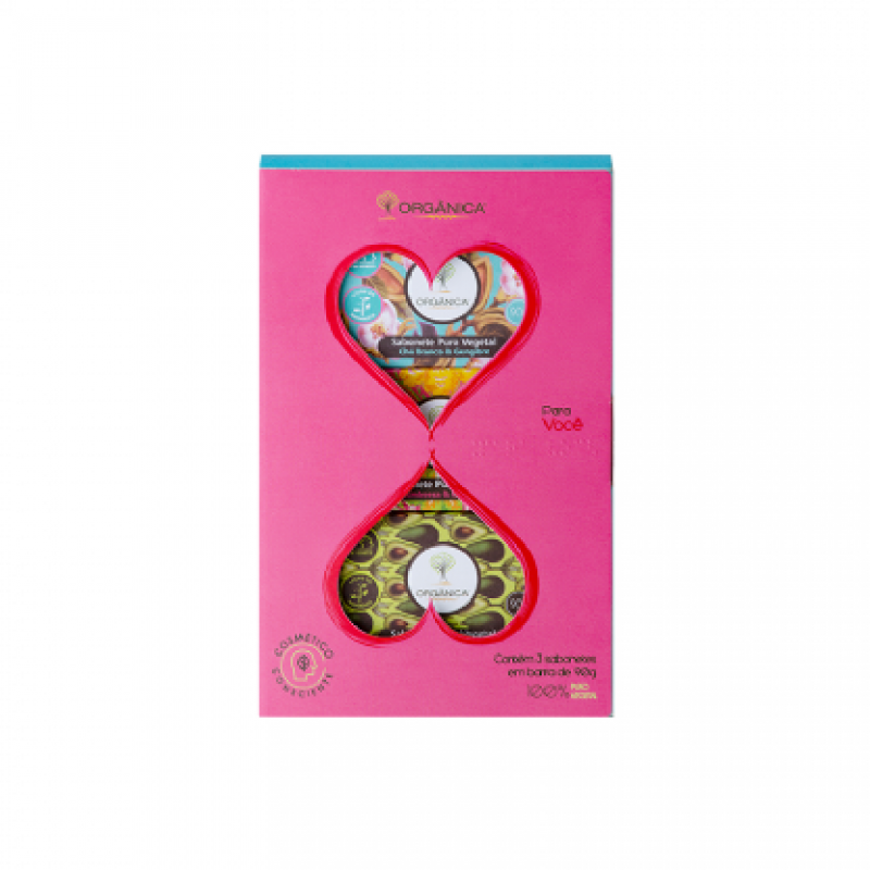 Kit Coração de Sabonetes em Barra 3x90 g Orgânica