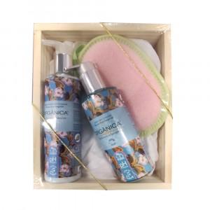 Kit Soft Banho com Esponja, Sabonete e Loção Hidratante Orgânica