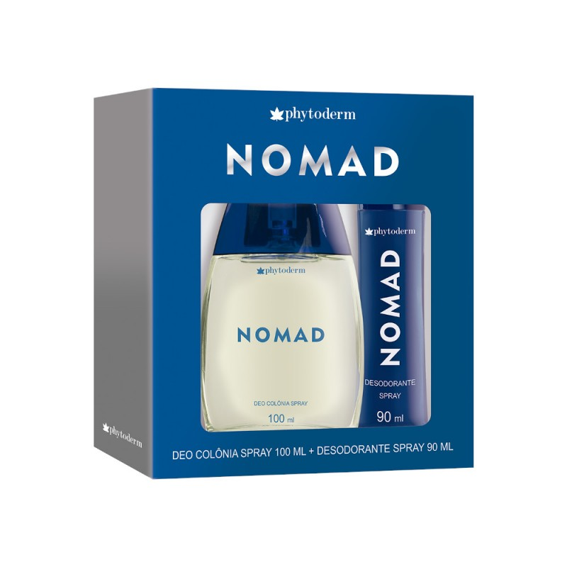 Kit Nomad - Deo Colônia 100ml + Desodorante Spray 90ml Phytoderm