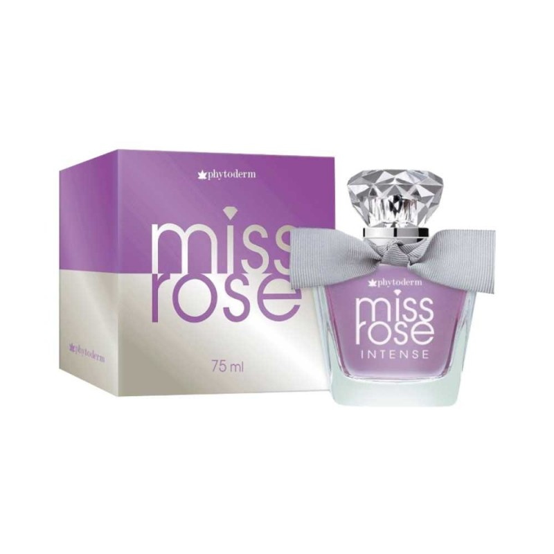 Deo Colônia Miss Rose Intense 75ml Phytoderm