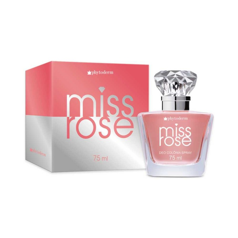 Deo Colônia Miss Rose 75ml Phytoderm