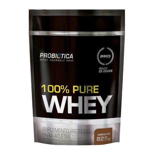 100% Pure Whey Chocolate Pouch Refil 825 g Probiotica