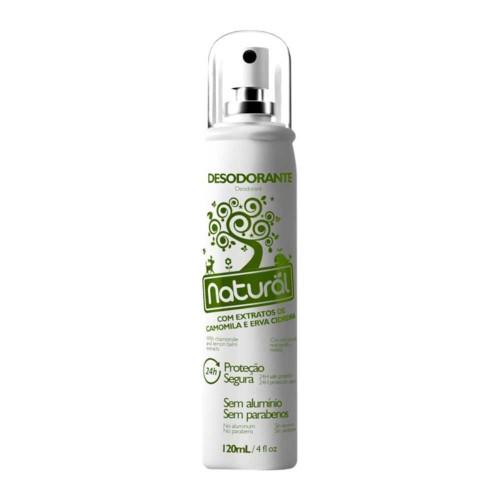 Desodorante natural extrato de camomila e erva cidreira 120ml spray