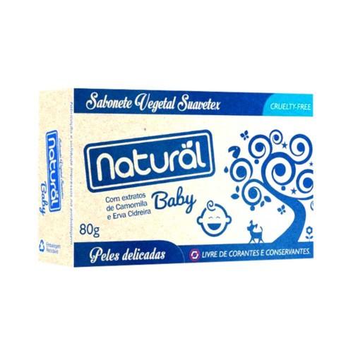 Sabonete natural baby extrato de camomila e erva cidreira 80gr